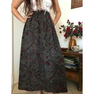 Vintage Prairie Maxi Skirt